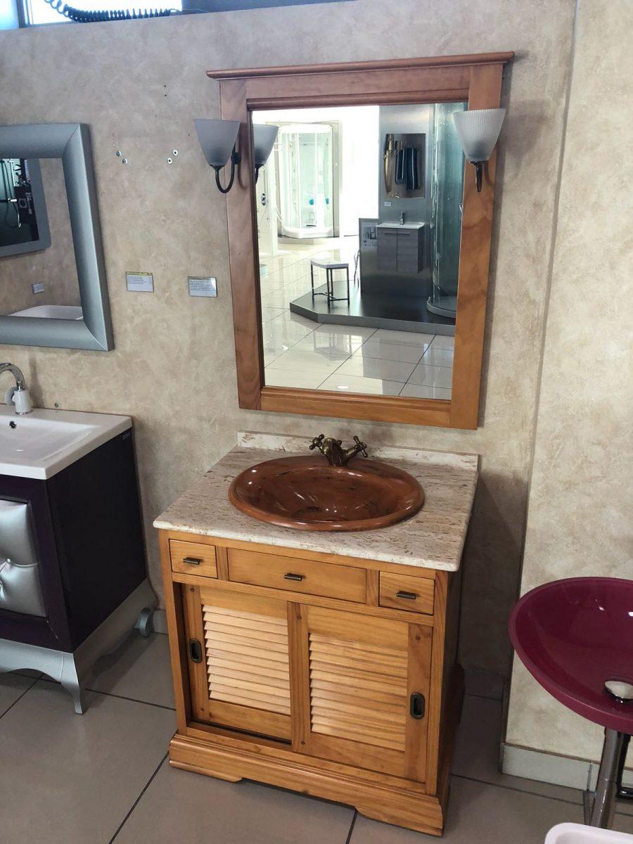 Mueble de ba o estilo r stico de madera de cerezo - Banos arabes mallorca precio ...