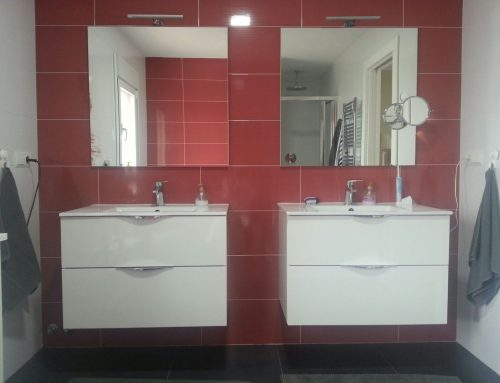 Baño moderno 2 lavabos