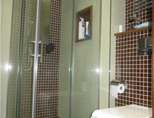 Baño con mosaico