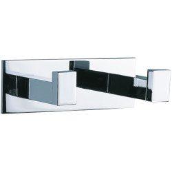 Percha doble metálica para baño. Accesorios de baño en Valladolid. Decoración de baño en Valladolid