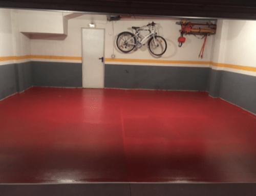Garaje: Aplicacion resinas epoxi de dos componentes