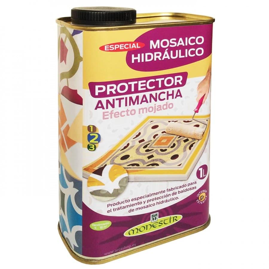 Protector de baldosas con efecto mojado. Producto para proteger las baldosas. Efecto mojado en baldosas