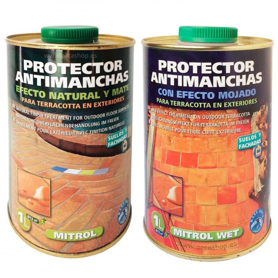 Protector antimanchas para barro cocido. Producto protector de terracotta